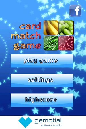 Card Match Game screen